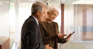 mature age workforce senior business team